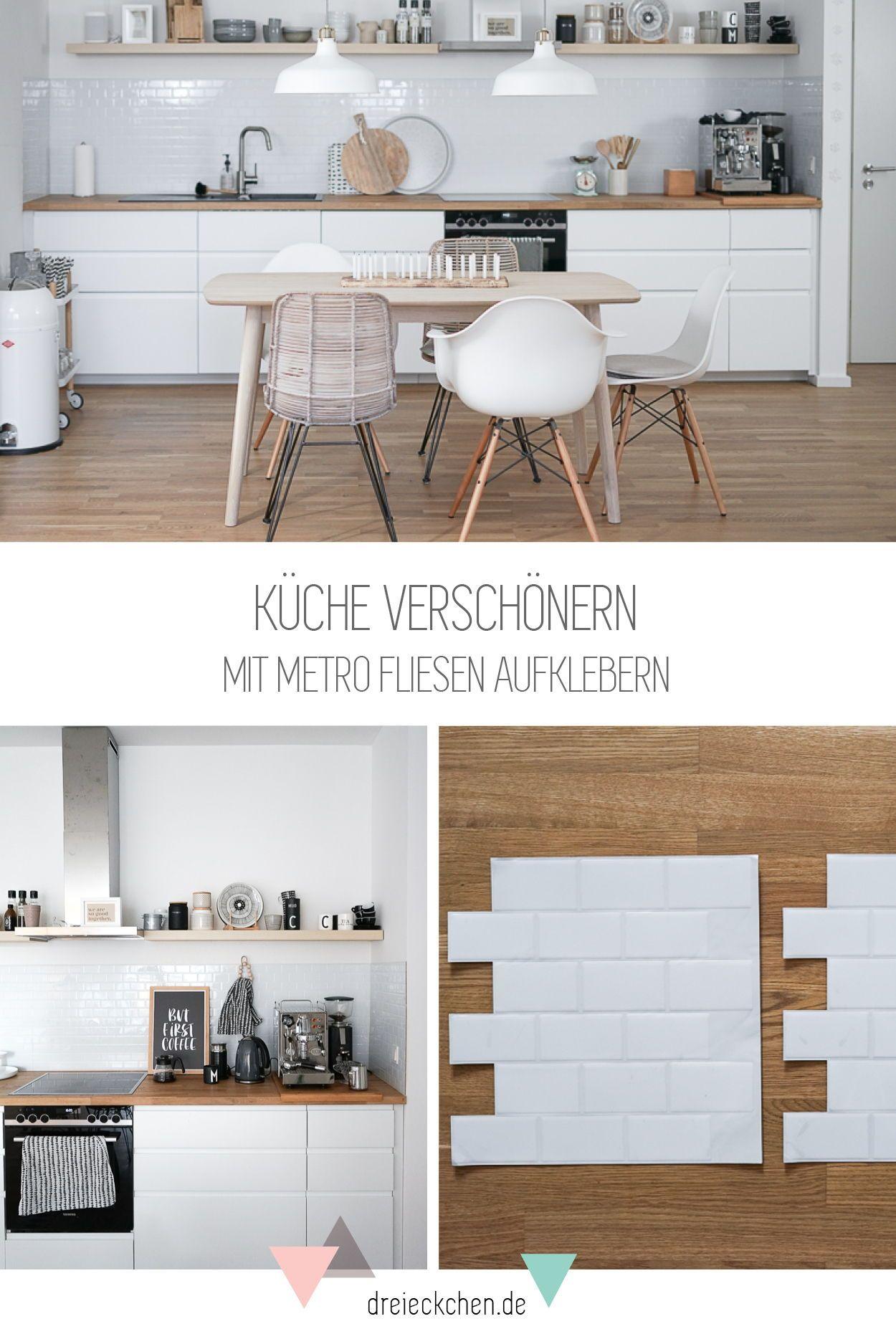 Metro Fliesen in der Küche Küchenrückwand aus