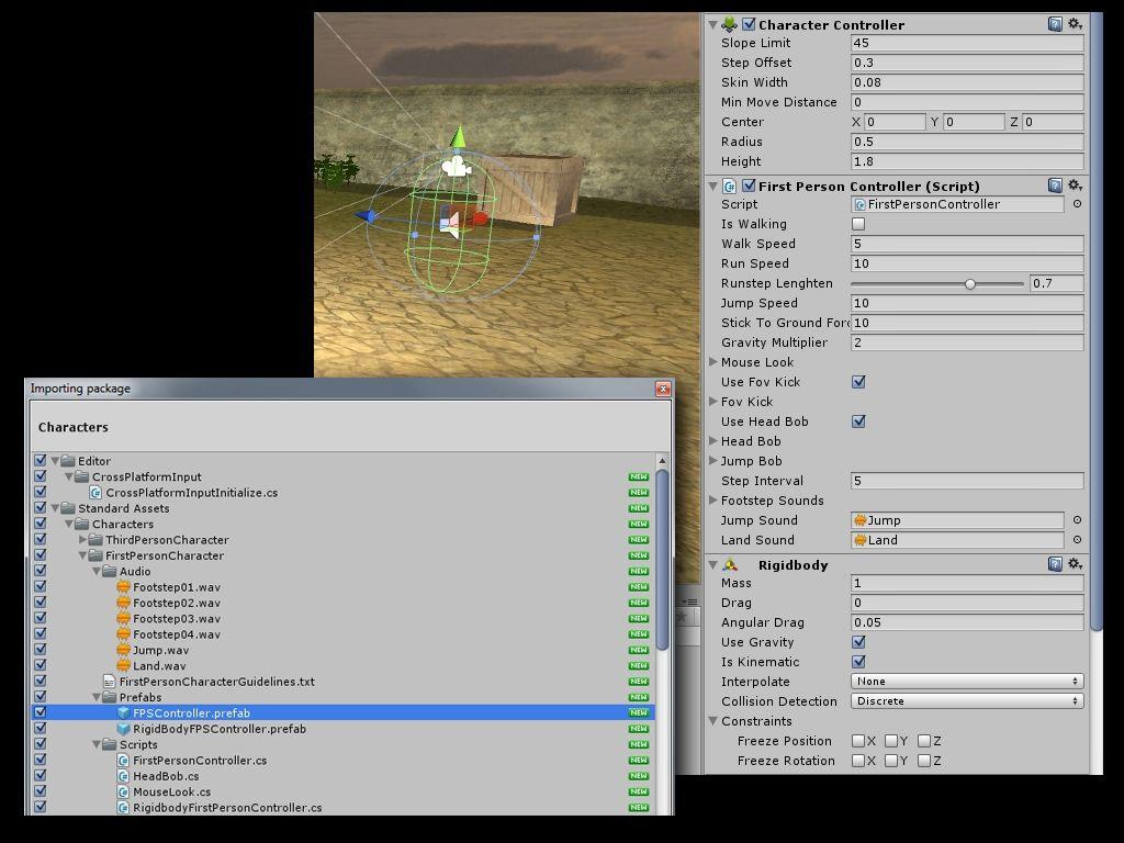 Unity5 fpscontroller tutorial unity pinterest tutorials tutorials baditri Image collections
