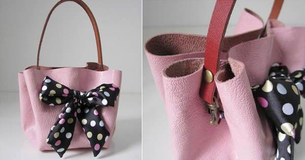 805e48bfa2a54 Aprenda a fazer uma bolsa de couro! Trata-se de um modelo lindo