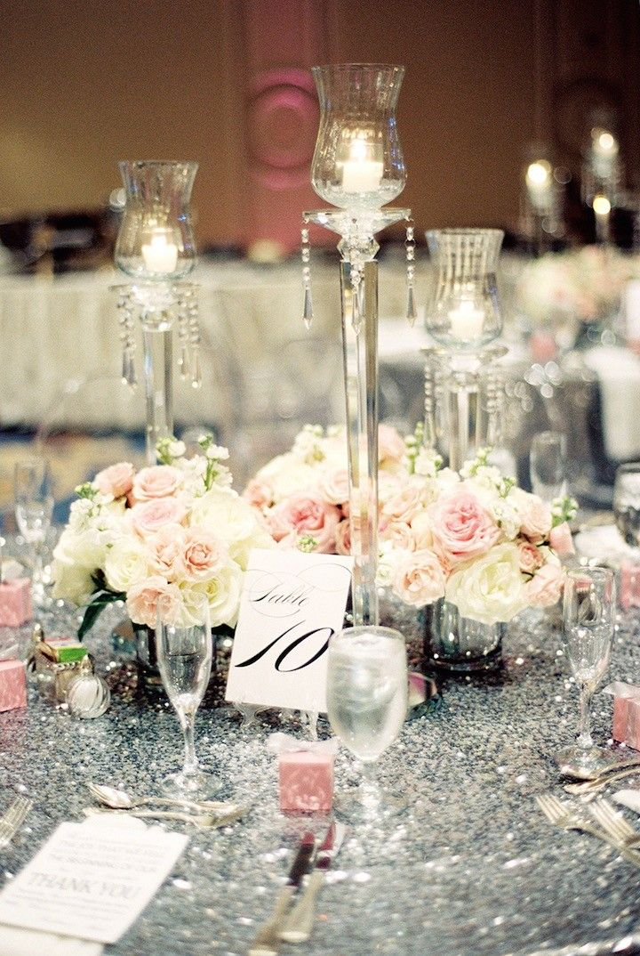 Houston Wedding Silver And Pink Glamour Silver Wedding