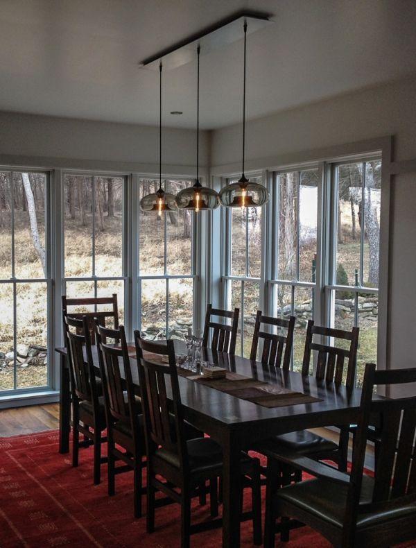 Floor To Ceiling Sheer Curtains Niche Modern Aurora Pendant Mesmerizing Pendant Lighting For Dining Room Design Decoration