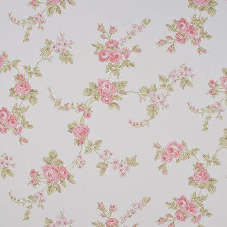 Papel de parede floral cod ab27658 decoracao casa - Papel pared bebe ...