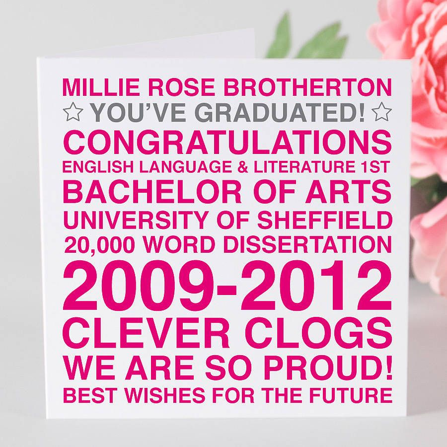 Personalised graduation card graduation cards and graduation greetings personalised graduation card m4hsunfo