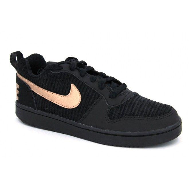 WMNS Court Borough Low, Chaussures de Sport-Basketball Femme, Noir (Black/Black-White), 42 EUNike