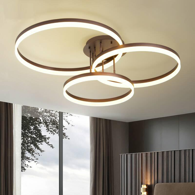 3 Head Modern Simplicity Led Ceiling Lamp Led Integrated Dimmable