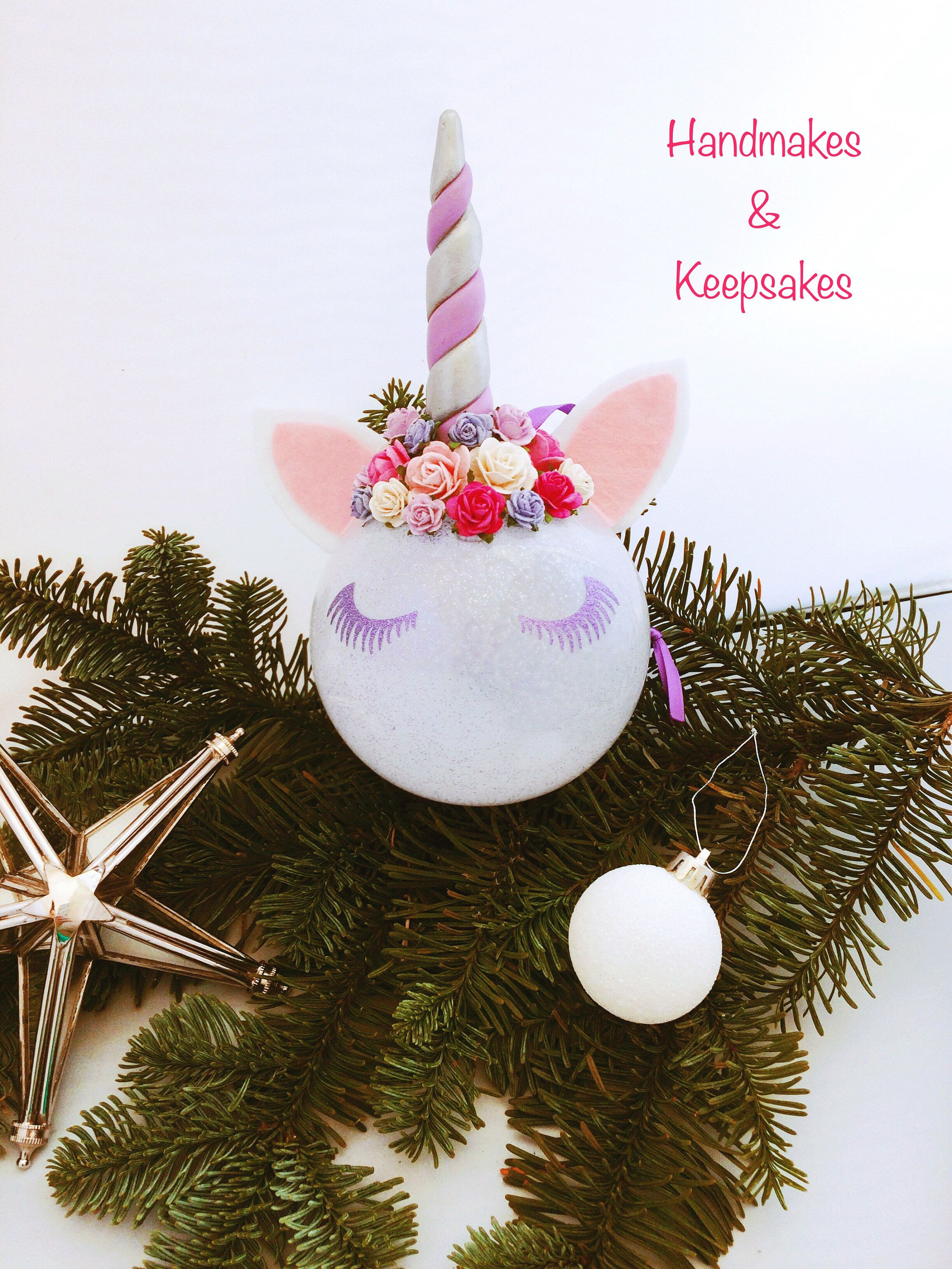 Unicorn Christmas Tree Decoration Unicorn Christmas Tree Bauble Unicorn Bauble