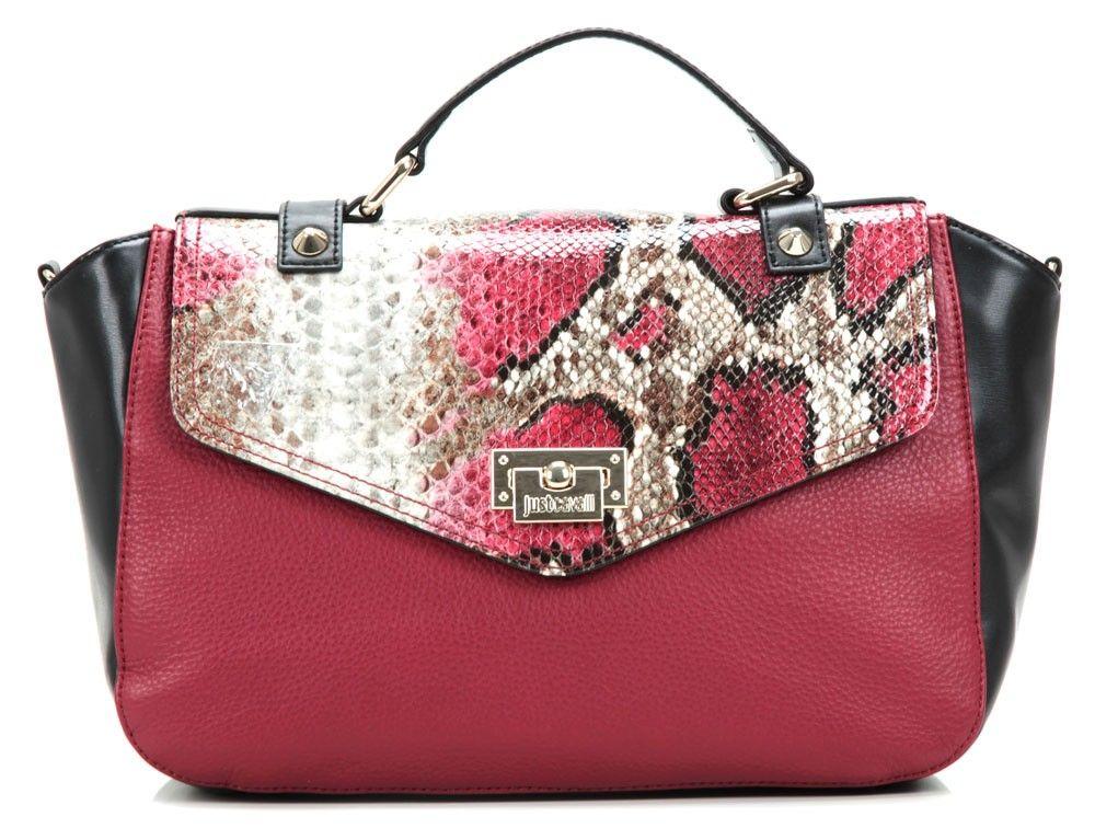 103a581fd85f0 wardow.com - Tasche von Just Cavalli Leder pink 35 cm