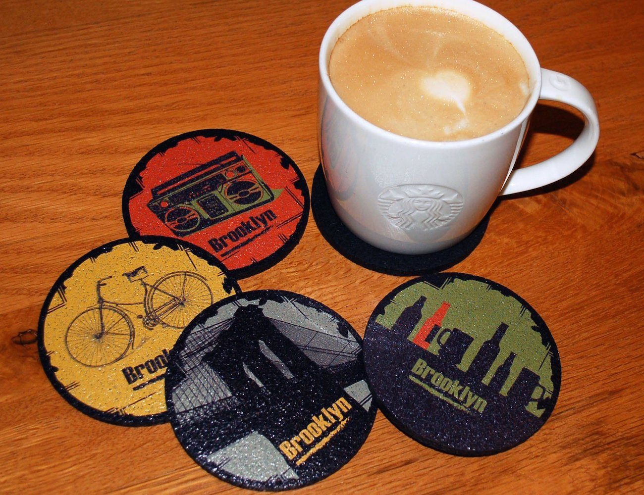 #Brooklyn Love #Coasters http://thegadgetflow.com/portfolio/brooklyn-love-coasters/?utm_content=bufferb9d94&utm_medium=pinterest&utm_source=pinterest.com&utm_campaign=buffer The lively culture of Brooklyn will add fun to your #teatimes!