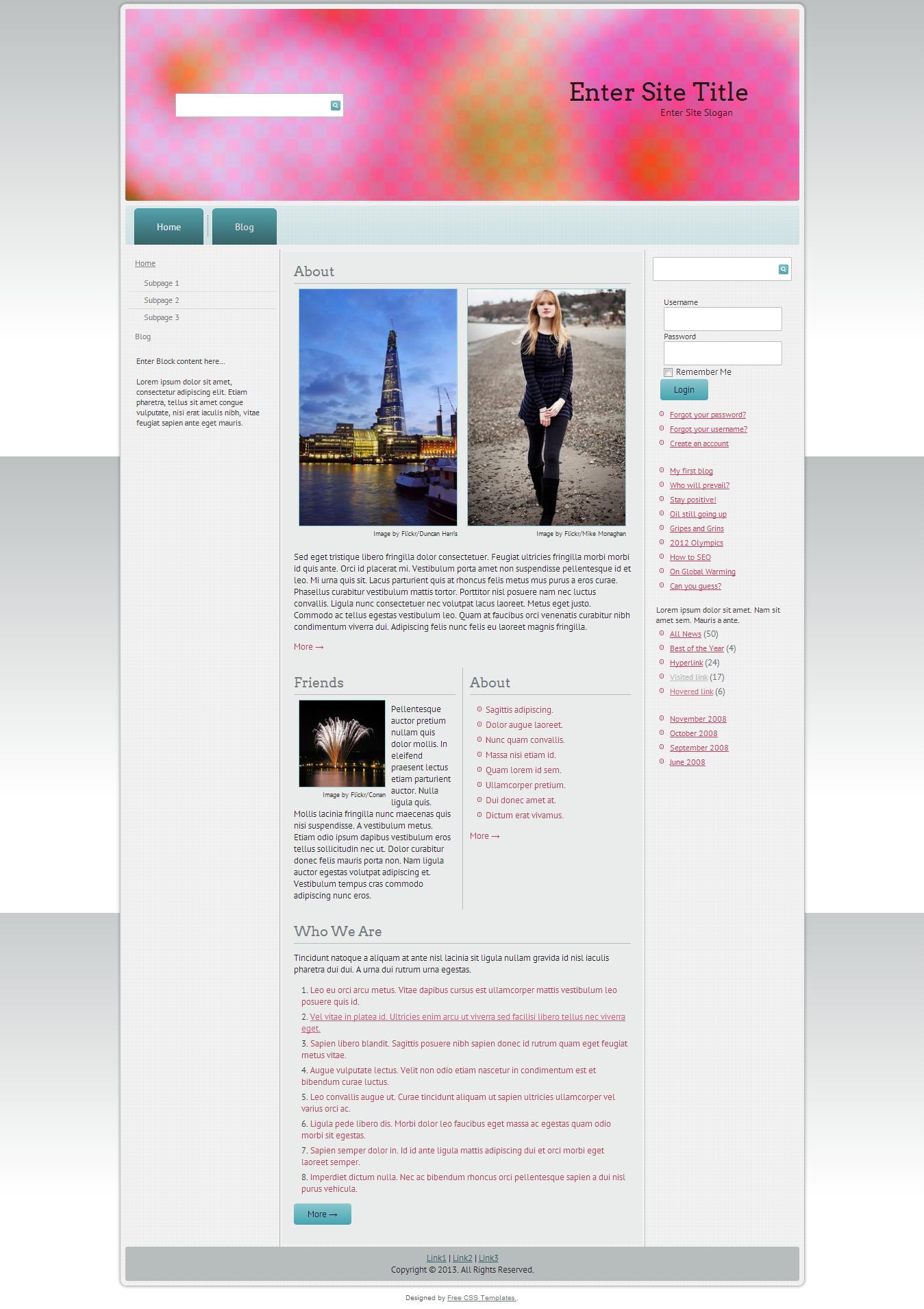 Oozio Free Responsive CSS Templates - http://csstemplatesforfree.org ...