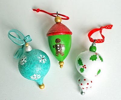 martha stewart painted christmas ornaments diy