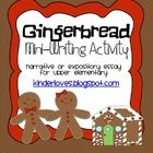 Gingerbread mini-writing activity is a writing and craft activity that allows students to write about their gingerbread cookie experiences.