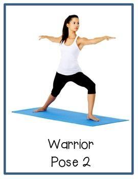 yoga break cards middle/high school  hatha yoga poses