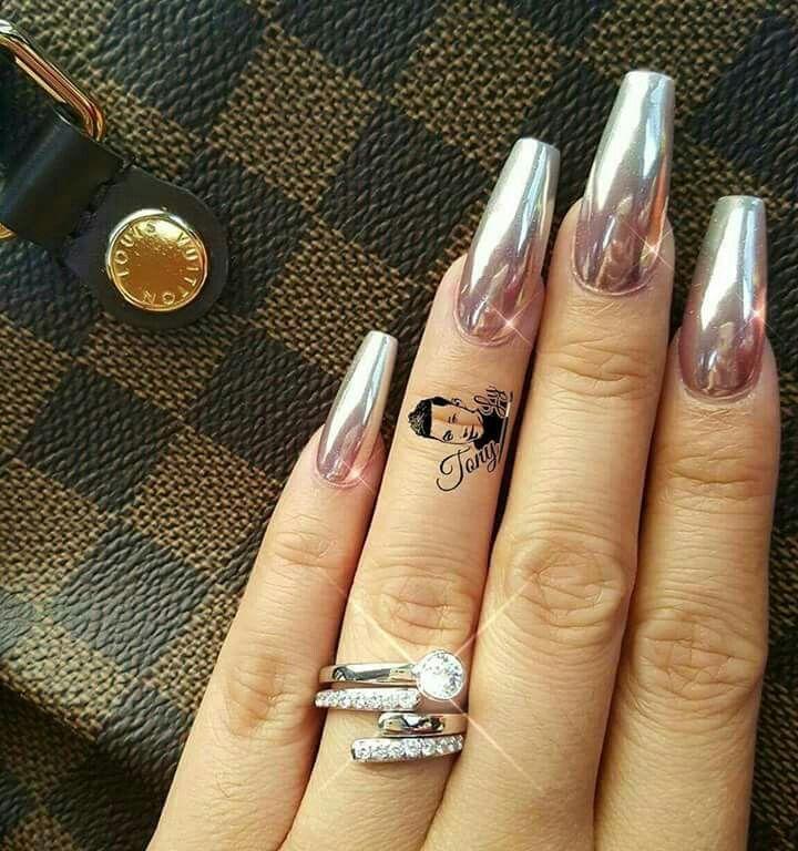 alexiakladouceur | NAILS | Pinterest | Diseños de uñas, Uñas espejo ...