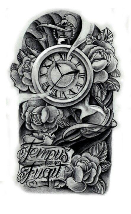 Time Waits On No One Disenos De Tatuajes De Relojes Tatuajes De Relojes Brazos Tatuados