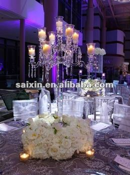 beautiful crystal candelabra for wedding table centerpieces
