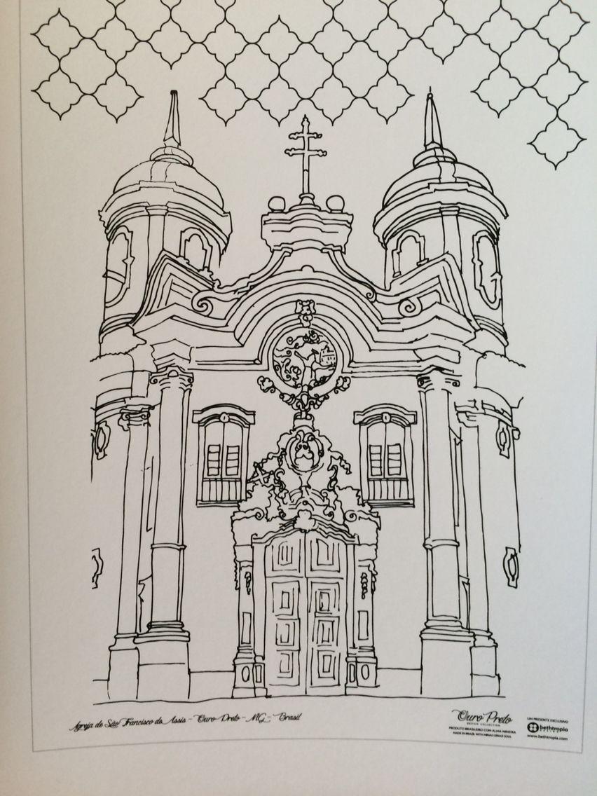 Igreja De Ouro Preto De Beth Tropia Arte Barroca