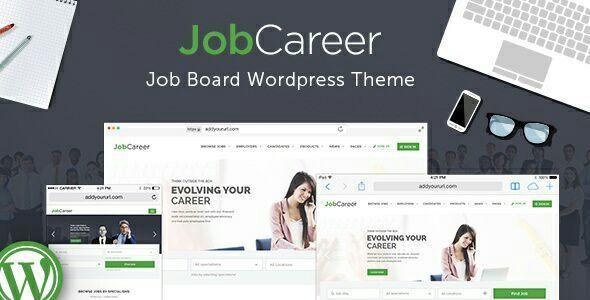 JobCareer | Job Board Responsive WordPress Theme . Job Board ...