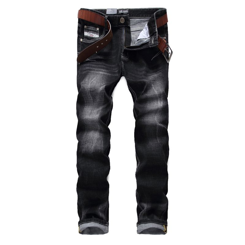 2016 Famous Brand Dsel Jeans Men Slim Straight Denim Black Color Jeans Trousers High Quality Stretch Cheap Mens Jeans N702