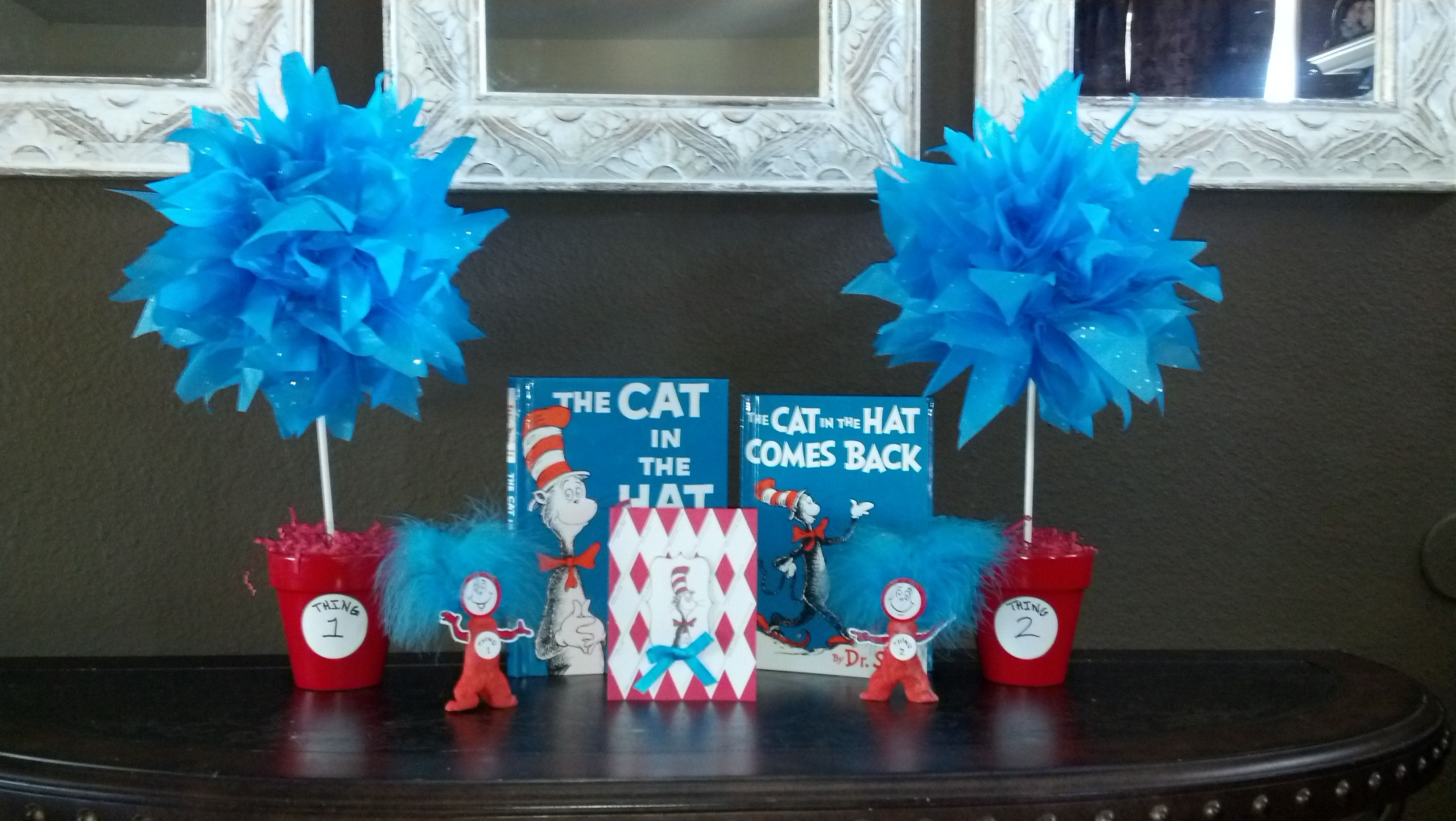 Thing 1, Thing 2 – Party Topiary's!