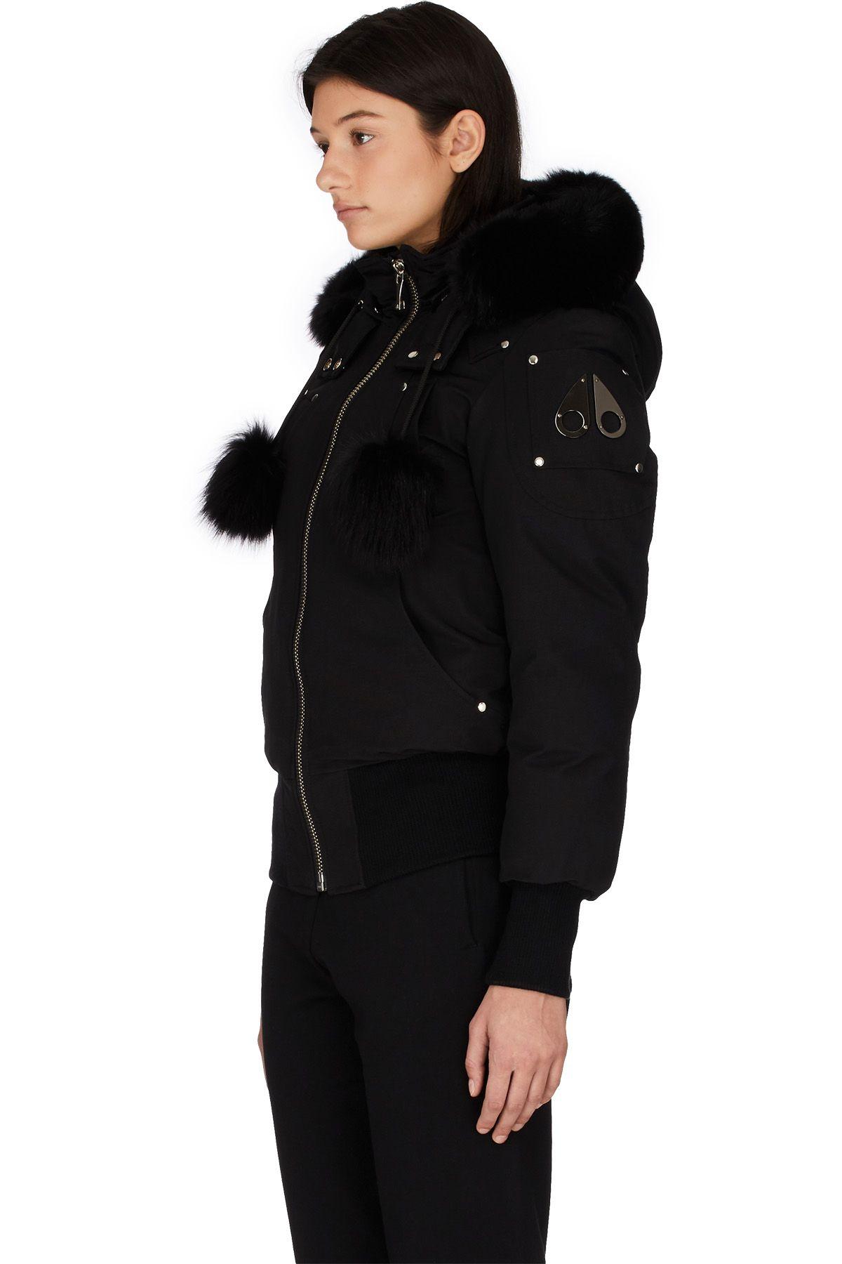 Moose Knuckles Debbie Bomber Black Black Jackets For Women Women S Coats Jackets Black [ 1800 x 1200 Pixel ]