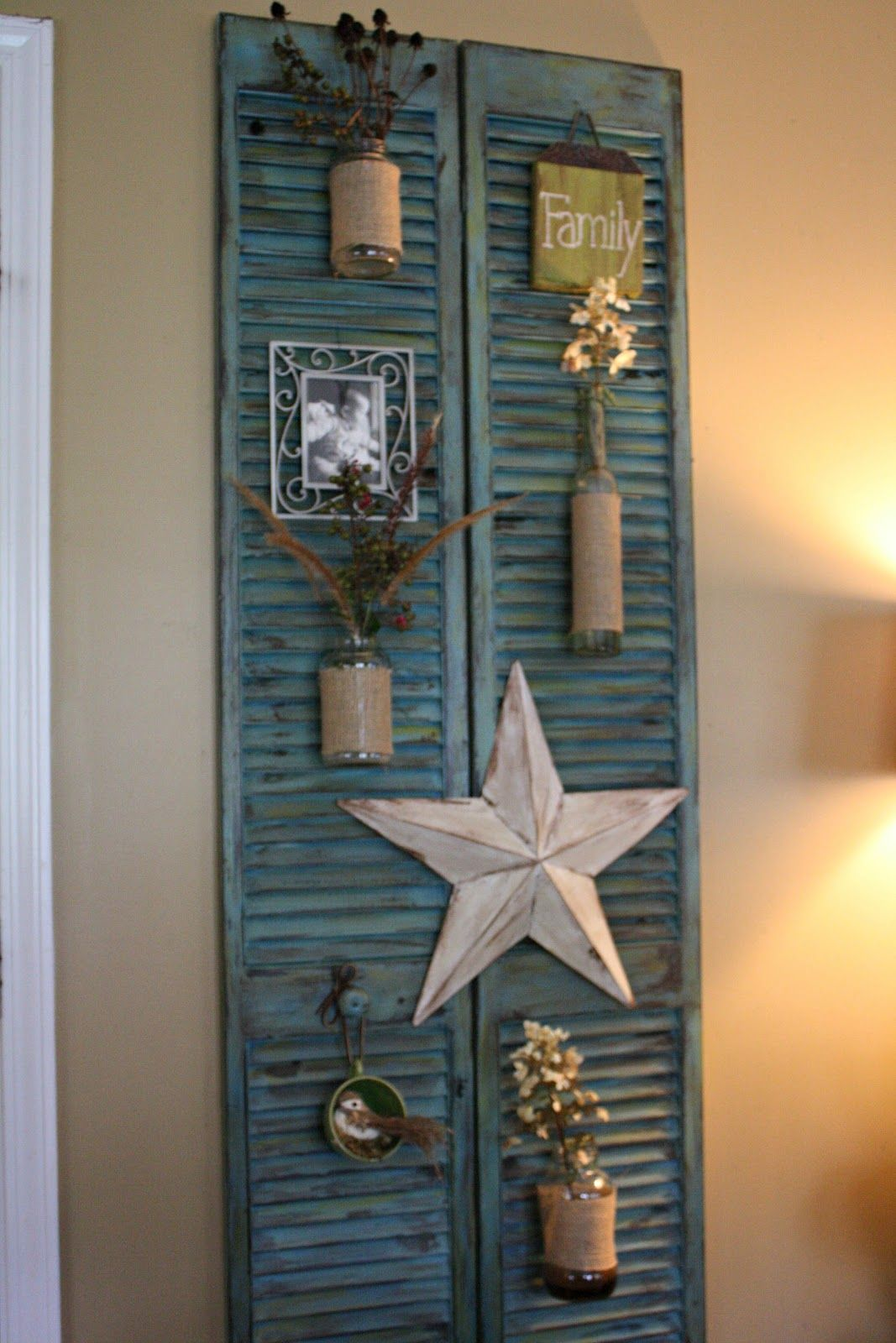 No Fancy Whimsical Specialty Store Shopping Just Diy Projects Shutter Decor Decor Diy Shutters