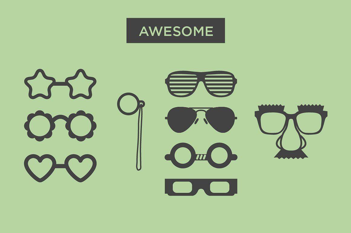 b0c199432df Eyeglass Frames - 37 Vectors  decorate blog icons needed