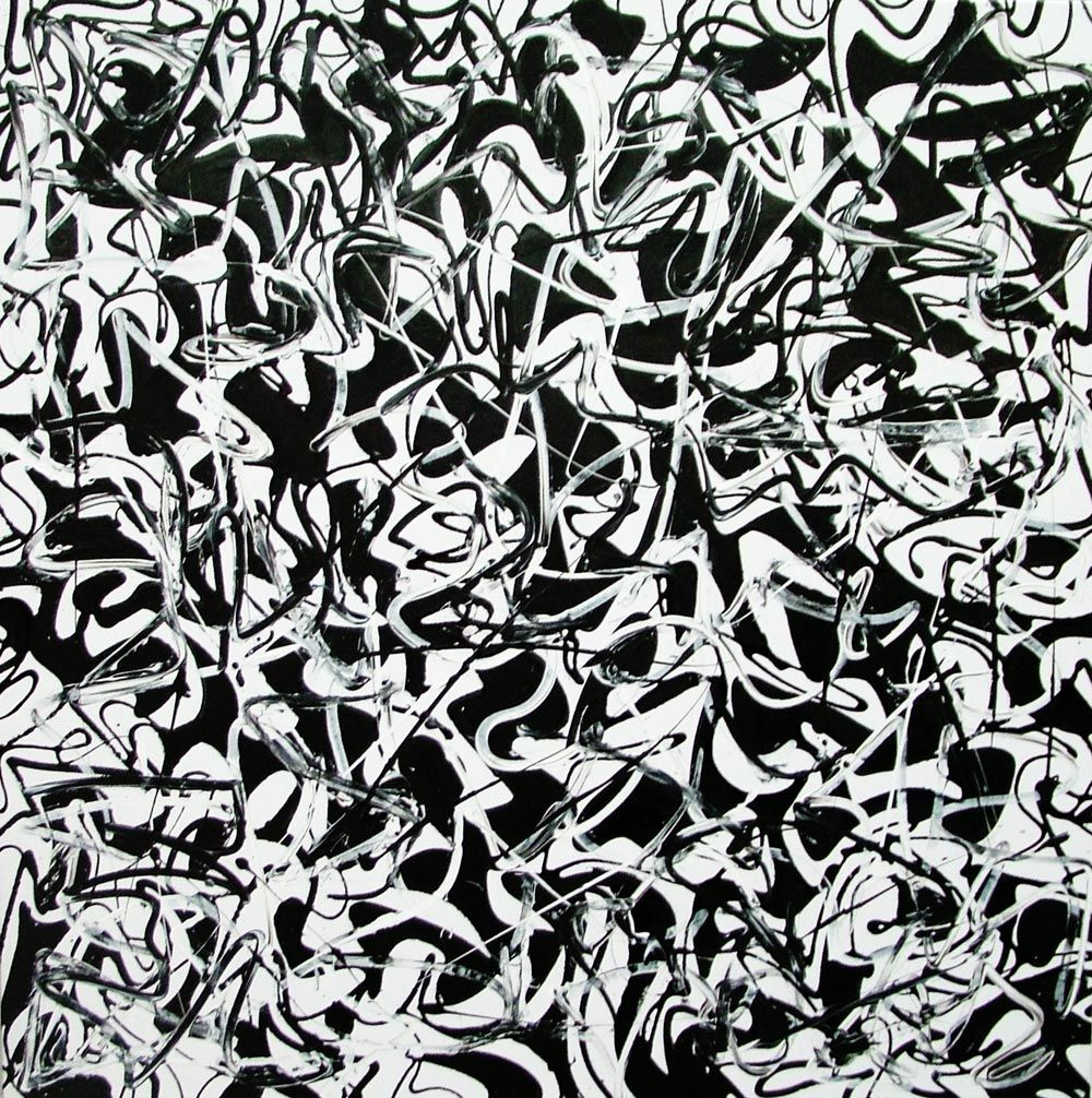 modern art black and white
