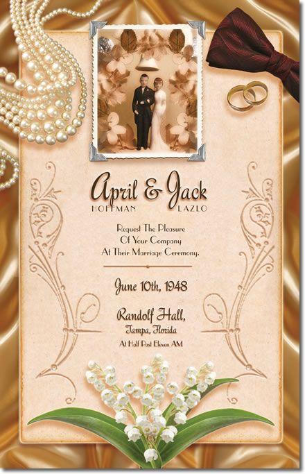 Clic Vintage Wedding Invitations