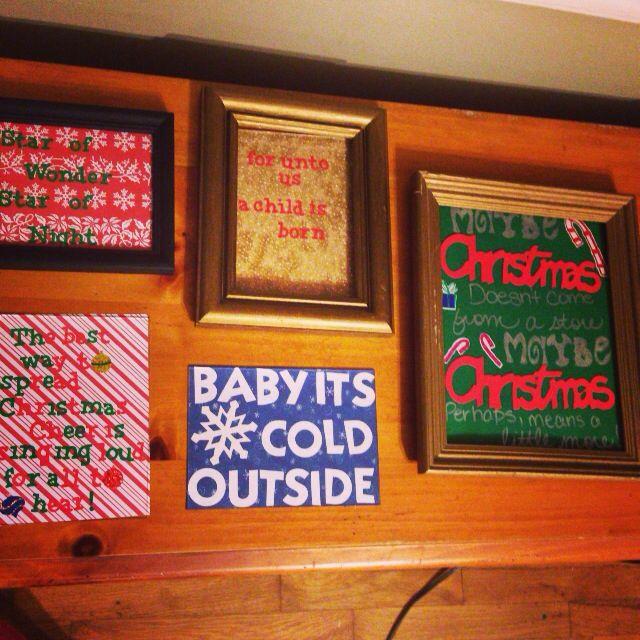 Christmas decorations I made!