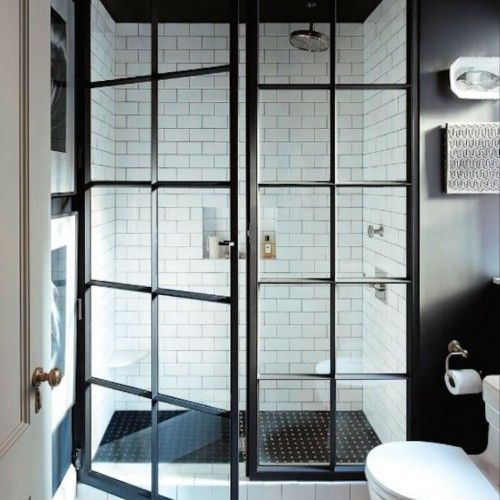 Modern Design For Framed Shower Door With Door Windows And Using