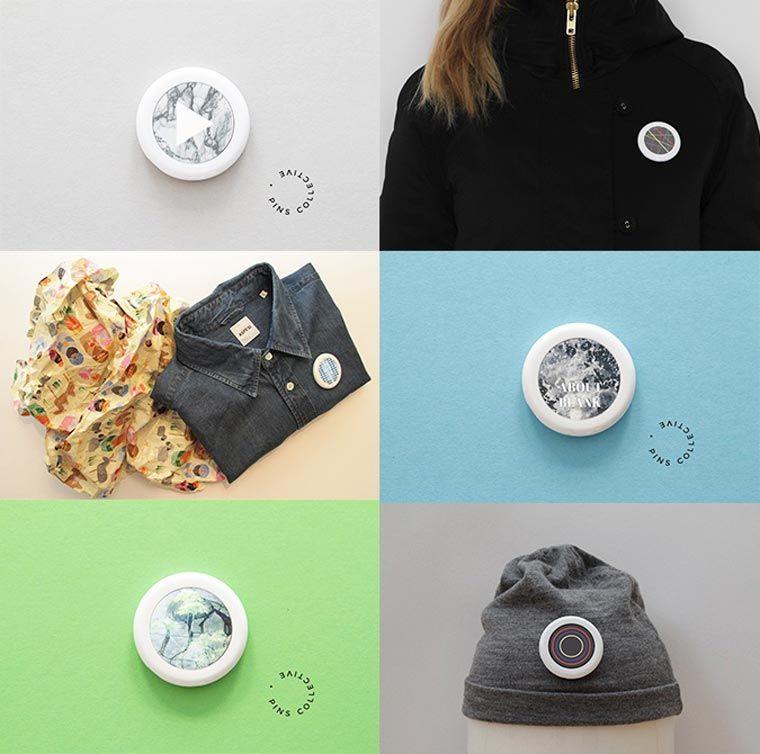 Pins Collective – Un pin's connecté capable d'afficher des GIFs animés