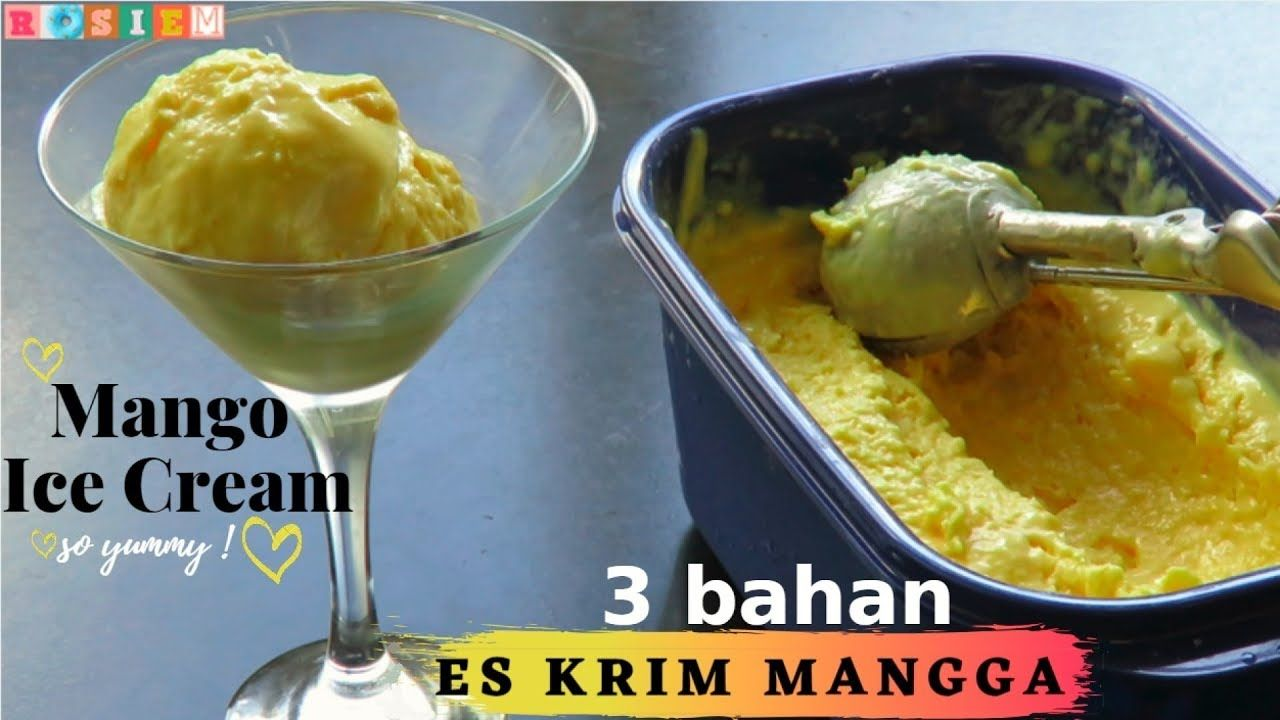 Resep Es Krim Mangga 3 Bahan Aja Mango Ice Cream 3 Ingredients Indonesianfood Resepmasakan Masakani Ice Cream Mango Ice Cream Mango Ice Cream Recipe
