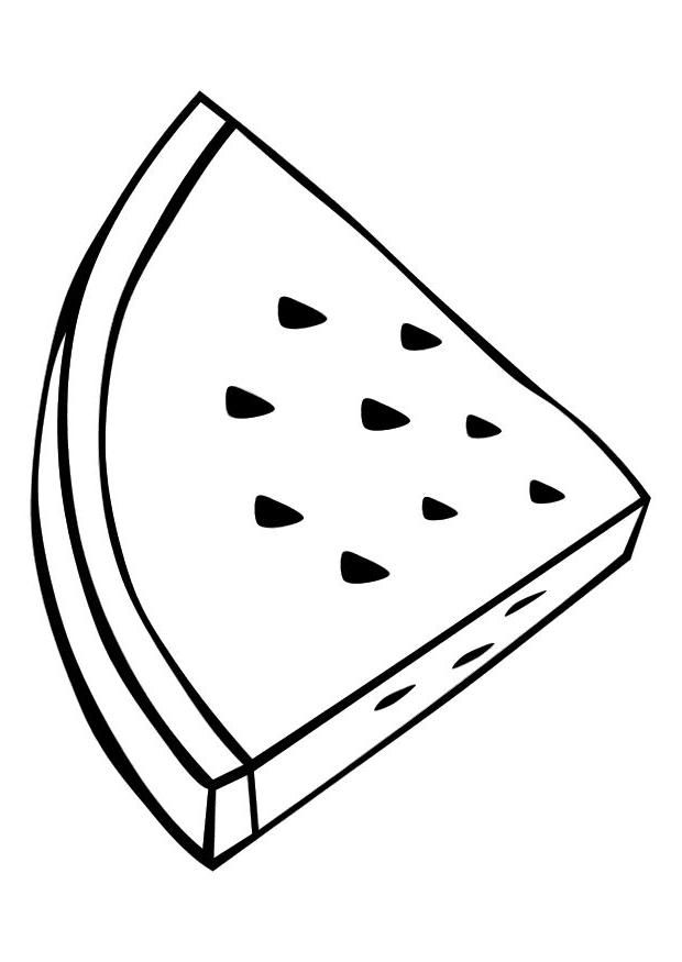 triangle slice Watermelon Coloring Pages for kids | Great Coloring ...