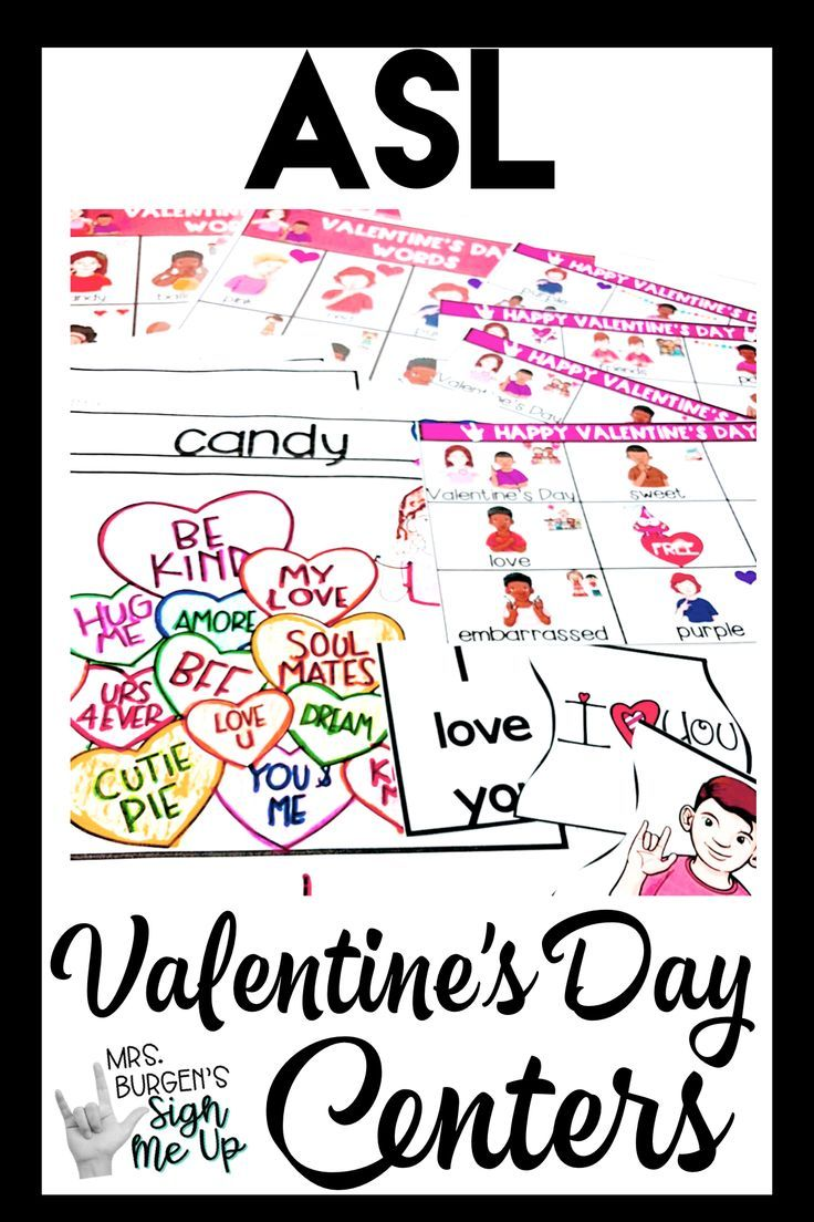 Asl Valentine S Day In 2020 Sign Language Lessons Special Education Sight Words Fun Language Arts