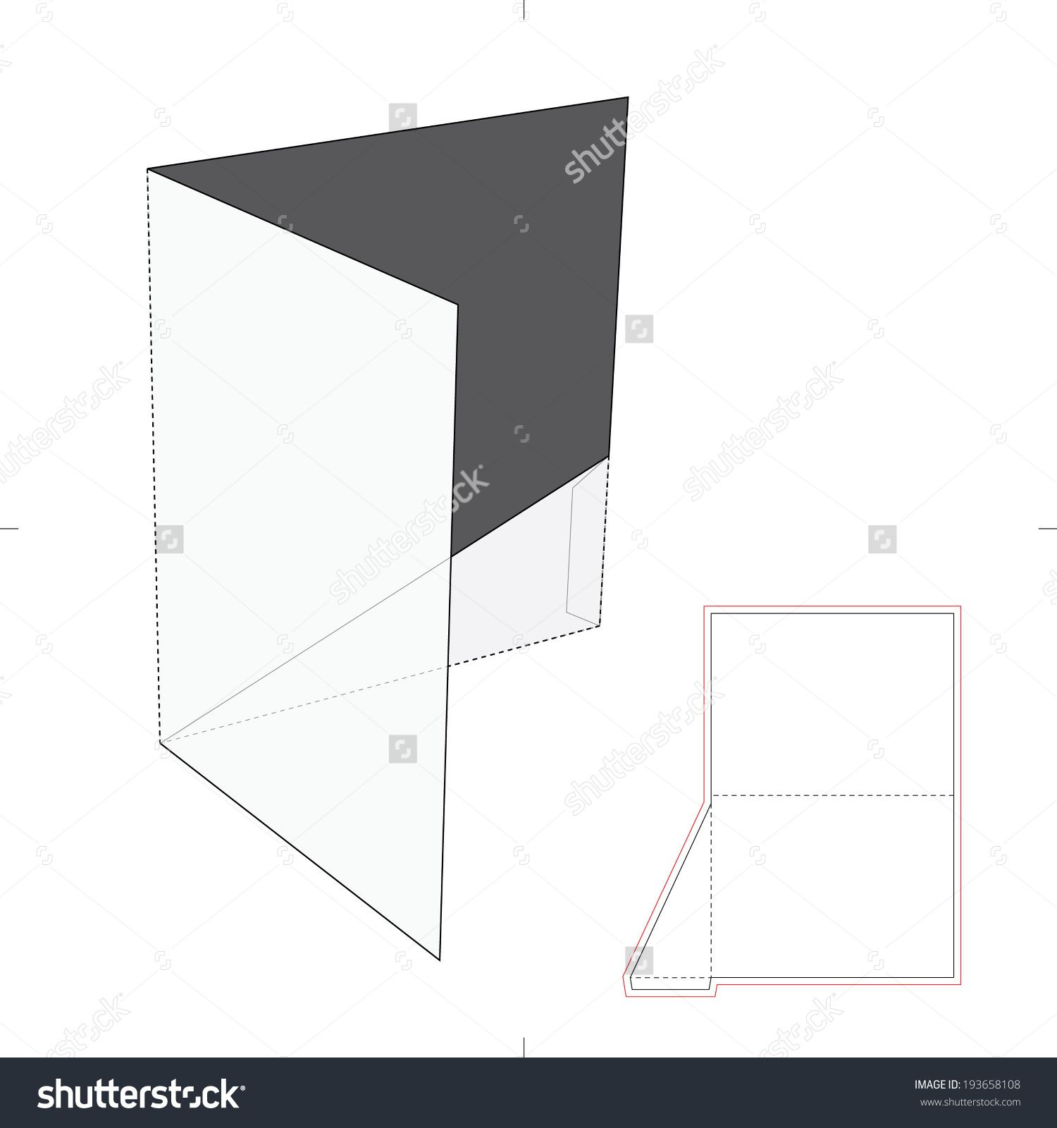 presentation folder with die cut layout stock vector