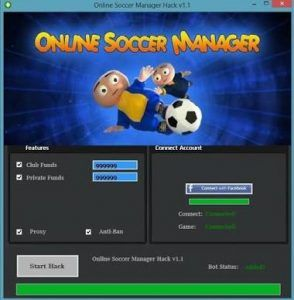 Online Soccer Manager Hack Cheat Trick