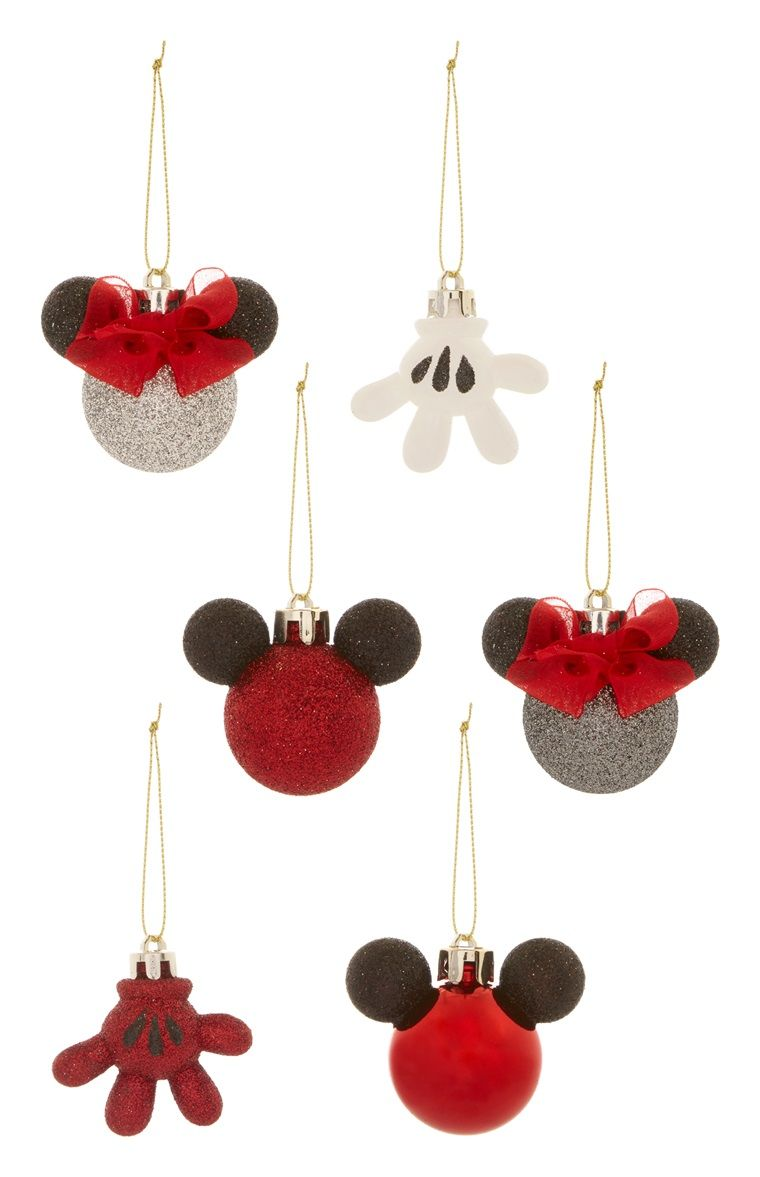 Primark Disney Mini Christbaumkugeln 6er Pack Holidays