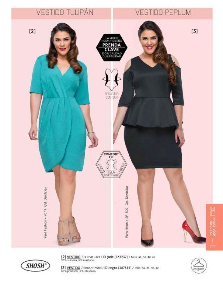 3ba0acdb95 Vestidos Shosh para Gorditas. Vestido color Jade y Vestido Negro. Catalogo Price  Shoes.  Vestidos de moda para gorditas