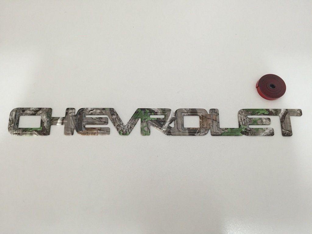 Chevrolet silverado camo emblem 99 06 badge rear chevy tahoe oem tree camouflage