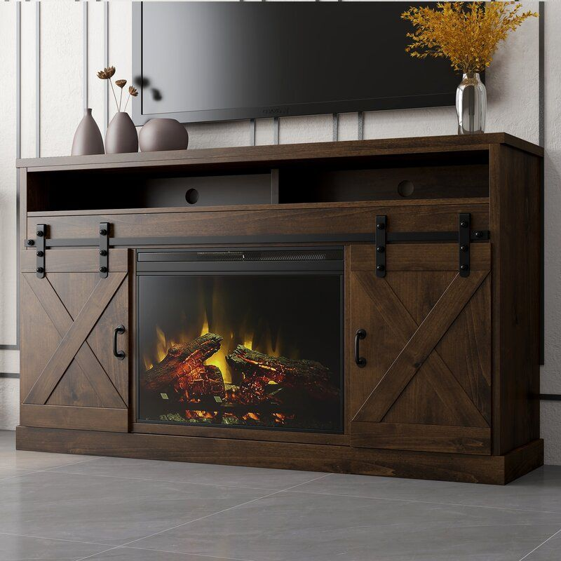 Pullman Tv Stand For Tvs Up To 75 With Electric Fireplace