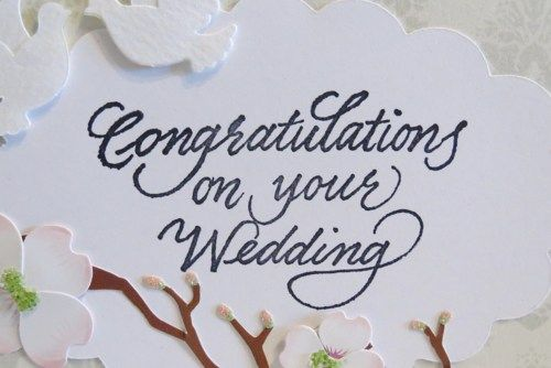 Congrats On Your Wedding Messages Wedding Card Handmade