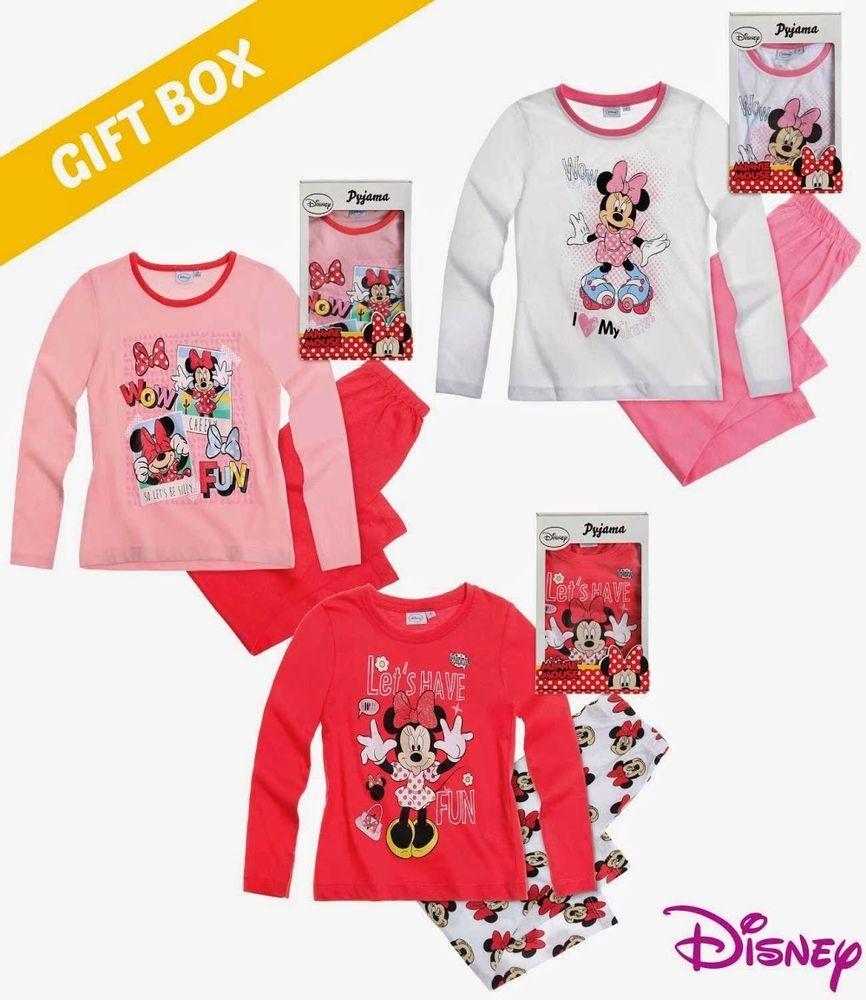 Disney Minnie Mouse Girls Babies Character Pyjamas Set Pajama Pjs with Gift Box    eBay