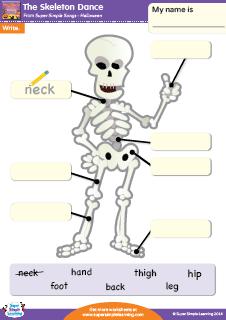 The Skeleton Dance Halloween Writing Worksheet From