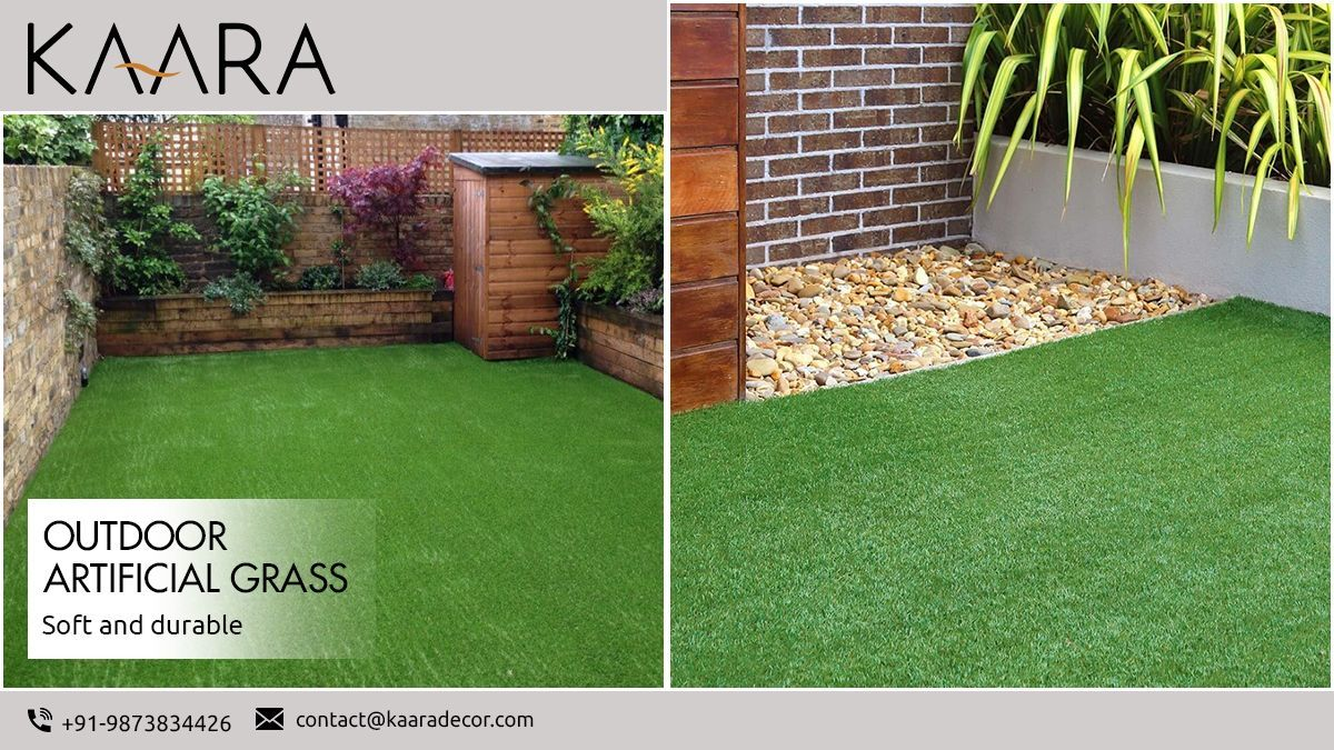 Want garden with no muddy parts but looks natural and greener all the year? Bring KAARA's Outdoor Artificial Grass that is soft and durable and can be used in any climate. For buying/inquiry call us at +91-9873834426 OR mail us your details at contact@kaaradecor.com  #outdoorartificialgrass #ArtificialGrass #affordableprice #lawnreplacement #backyard #landscapedesign #alwaysgreen #gogreen #durable #soft #natural #greener #outdoorspace #kaara #kaaradecor
