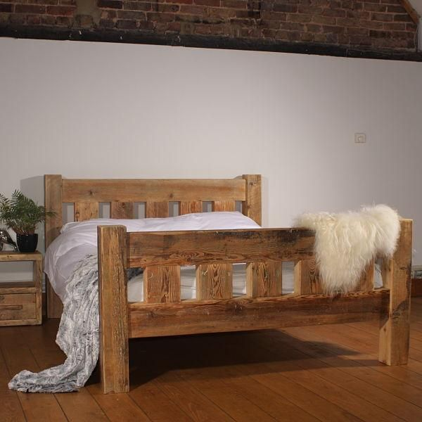Kingsbridge Reclaimed Oak Extending Dining Table Ex Display With Images Reclaimed Wood Beds Wooden Bed Frames Wood Beds