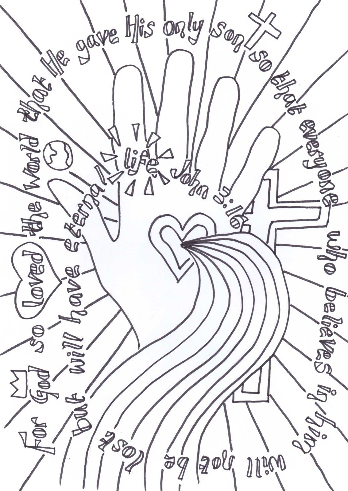 flame creative children u0027s ministry john 3 16 verse to colour