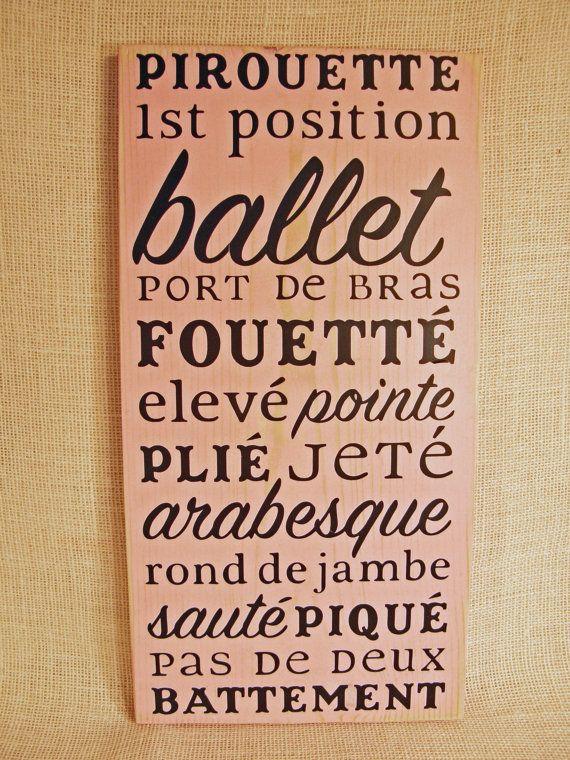 Ballet rosa por HollyhockHandcrafts en Etsy