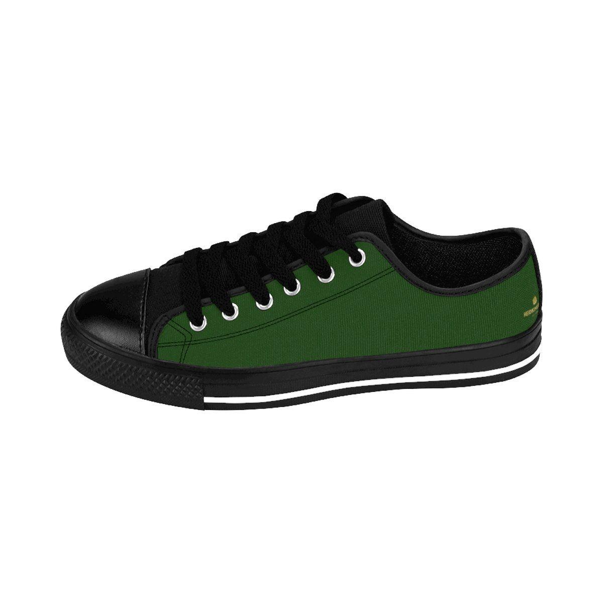 Green Men's Low Tops, Seattle Emerald
