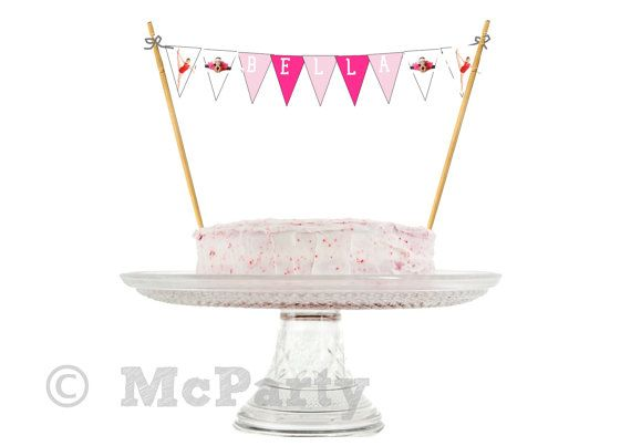Gymnast party cake bunting garland banner by mcparty on for Decorazione torte ginnastica ritmica