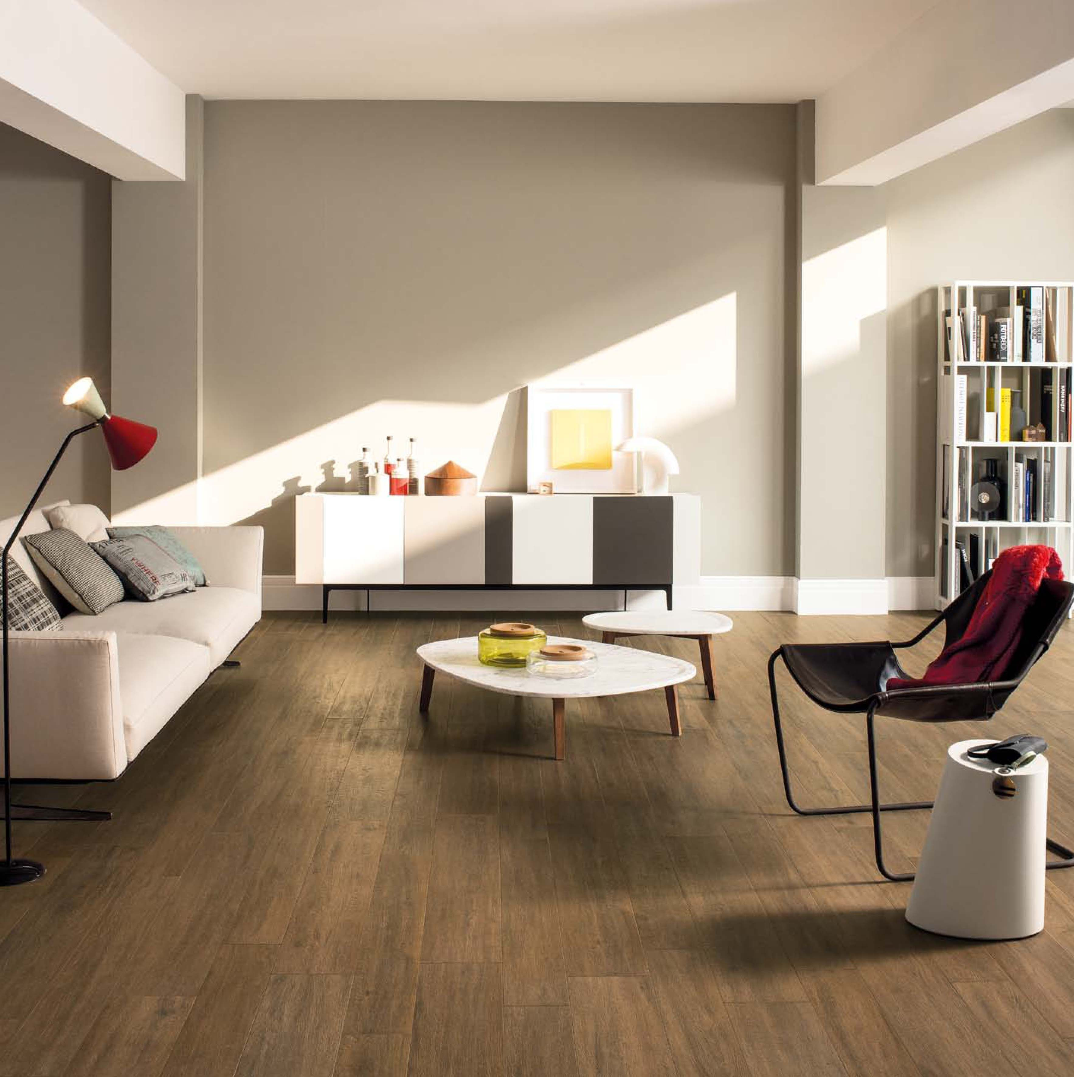 Modern Floor Tiles Design For Living Room Captivating Modern Livingroom With Wood Look Tile Porcelain Tiles  Pinterest Design Ideas